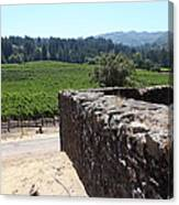 Vineyard And Winery Ruins At Historic Jack London Ranch In Glen Ellen Sonoma California 5d24537 Canvas Print