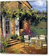 Vineyard Villa Canvas Print