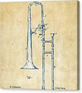Vintage 1902 Slide Trombone Patent Artwork Canvas Print