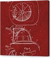 Vintage 1932 Firemans Helmet Patent Canvas Print