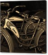 Vintage 1941 Boys And 1946 Girls Bicycle 5d25760 Sepia1 Canvas Print