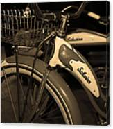 Vintage 1941 Boys And 1946 Girls Bicycle 5d25760 Vertical Sepia1 Canvas Print