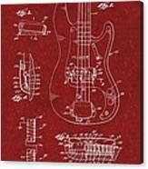 Vintage 1961 Fender Guitar Patent Canvas Print