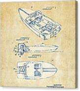 Vintage 1972 Chris Craft Boat Patent Artwork Canvas Print