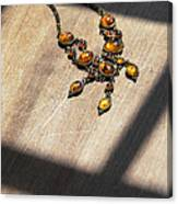Vintage Amber Necklace Canvas Print