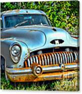 Vintage American Car In Yard Canvas Print