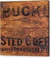 Vintage Arbuckles Roasted Coffee Sign Canvas Print