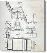 Vintage Barber Chair Patent Canvas Print