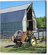 Vintage Barn And Equipment Canvas Print