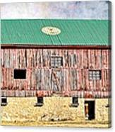 Vintage Barn - Wood And Stone Canvas Print