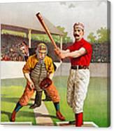 Vintage Baseball Print Canvas Print