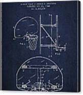 Vintage Basketball Goal Patent From 1944 Canvas Print