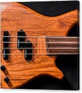Vintage Bass Guitar Body Canvas Print