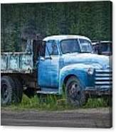 Vintage Blue Chevrolet Pickup Truck Canvas Print