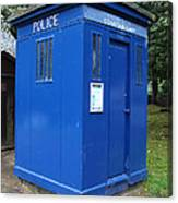 Vintage British Blue Police Phone Box Canvas Print