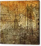 Vintage Brooklyn Bridge  Canvas Print