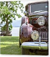 Vintage Caddy At Lake George Canvas Print