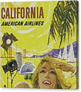 Vintage California Travel Poster Canvas Print