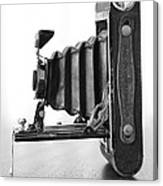 Vintage Camera - Black And White Canvas Print