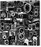 Vintage Camera Montage Canvas Print