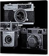 Vintage Camera Trio Canvas Print