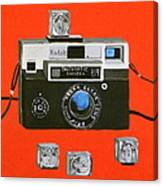 Vintage Camera With Flash Cube Canvas Print