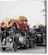 Vintage Car Carrier Canvas Print