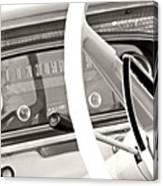 Vintage Car Dashboard Canvas Print