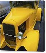 Vintage Car Yellow Canvas Print