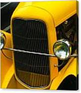 Vintage Car Yellow Detail Canvas Print