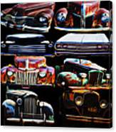 Vintage Cars Collage 2 Canvas Print