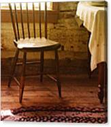 Vintage Chair And Table Canvas Print