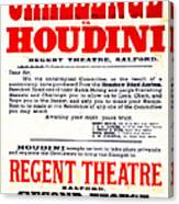 Vintage Challenge Houdini Poster Canvas Print