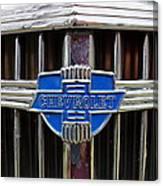 Vintage Chevrolet Grille Emblem Canvas Print
