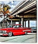 Vintage Chevy Impala Canvas Print