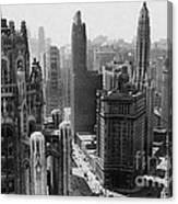 Vintage Chicago Skyline Canvas Print