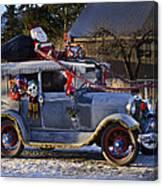 Vintage Christmas Car Canvas Print