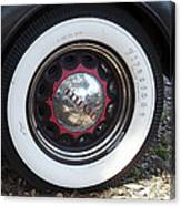 Vintage Chrysler Automobile Wide Whitewall Tire Poster Look Usa Canvas Print