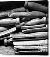Vintage Clothespins Canvas Print