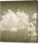 Vintage Clouds Background Canvas Print