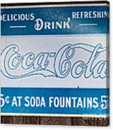 Vintage Coca Cola Ad Canvas Print