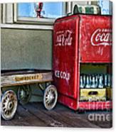 Vintage Coca-cola And Rocket Wagon Canvas Print