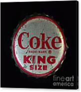 Vintage Coca Cola Bottle Cap Canvas Print
