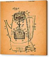 Vintage Coffee Maker Patent 1958 Canvas Print