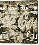 Vintage Coke Canvas Print