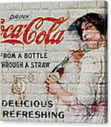 Vintage Coke Sign Canvas Print