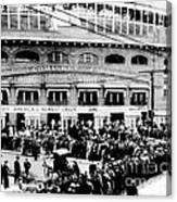 Vintage Comiskey Park - Historical Chicago White Sox Black White Picture Canvas Print