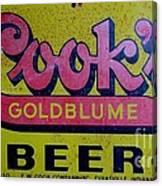 Vintage Cooks Goldblume Beer Sign Canvas Print
