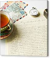 Vintage Correspondence Canvas Print