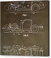 Vintage Corvette Patent Canvas Print